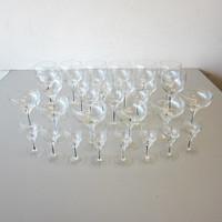 30 Pcs Vintage Belfor EXQUISITE Water Goblet Wine Glass Sherbet Champagne Cruet