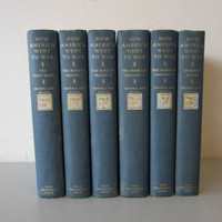 6-Volume Numbered Set HOW AMERICA WENT TO WAR Crowell Wilson Yale Ex-Library