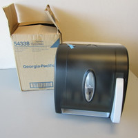 New Georgia-Pacific Push Paddle Roll Towel Dispenser Translucent Smoke #54338