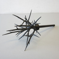 "Signed Original Michele Oka Doner ""Thorns"" Bronze Sculpture Sceptre Scepter"
