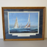 "Yachts of the Americas Cup ""THE TWELVE METERS"" signed T. Thompson Special Ed."
