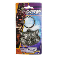 Pewter Key Chain - Rocket Racoon Head