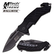 Bk M-tech Xtreme Rescue Blackwash AO Pocket Knife