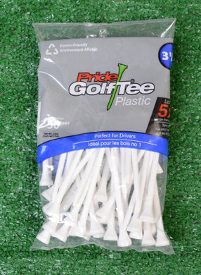 Golf Pride Plastic White Golf Tees - 3 1/4""