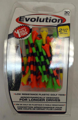 "Pride Tee Evolution Golf Tees - 2 3/4"" - Fruit/Black"