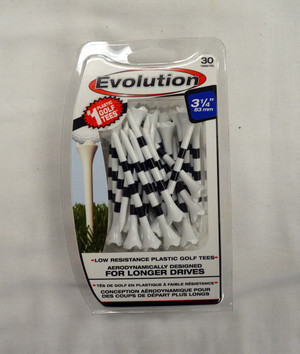 "Pride Evolution Golf Tees 3 1/4"" - White with Stripe"