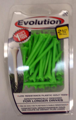 "Pride Tee Evolution Plastic Golf Tees - 2 3/4"" - Green"