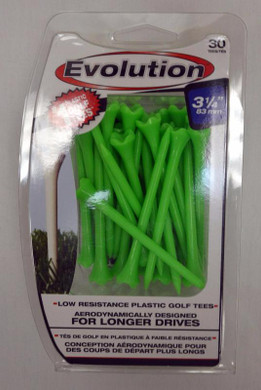 "Pride Tee Evolution Plastic Golf Tees - 3 1/4"" - Green"