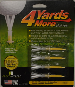"4 Yards More Golf Tees 2 3/4"" - Yellow"