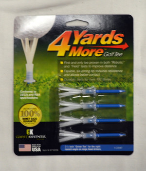 "4 Yards More Golf Tees 3 1/4"" - Blue"