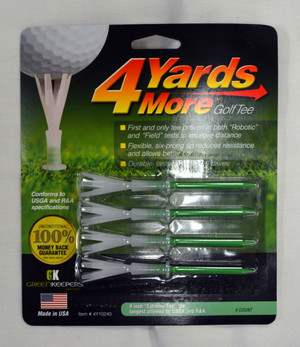 "4 Yards More Golf Tees 4"" - Green"