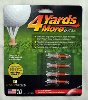 "4 Yards More Golf Tees 1 3/4"" - Red"