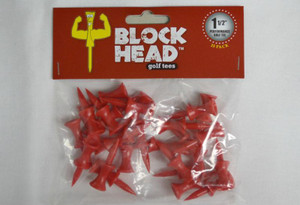 Block Head Plastic Golf Tees 1 1/2""