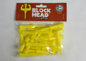 Block Head Plastic Golf Tees 2 3/4""