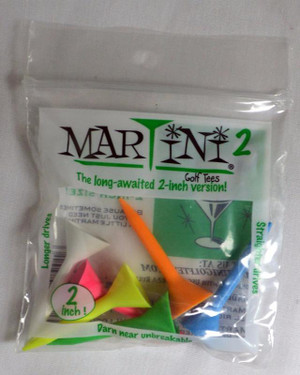 Martini 2 Golf Tees - 2""