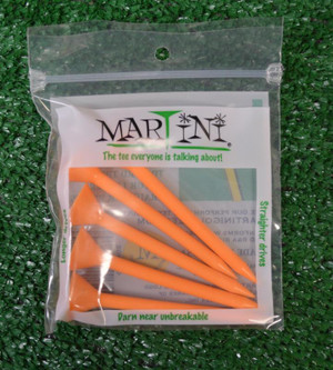 "Martini 3 1/4"" Orange Golf Tees"