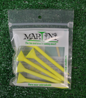 "Martini 3 1/4"" Yellow Golf Tees"
