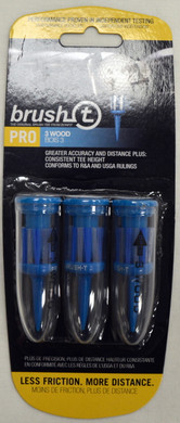 "Brush T Pro 3 Wood 2"" Golf Tees - Blue"