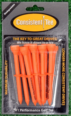"Consistent Tees 3 1/4"" Golf Tees - Orange"