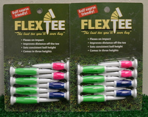 "Flex Tees 2 1/4"" 2 1/2"" 3"" Golf Tees - Green, Pink, Blue - FT726324"