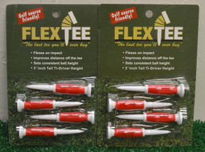 "Flex Tees 3"" Golf Tees - 4 Count - Red - FT726331"