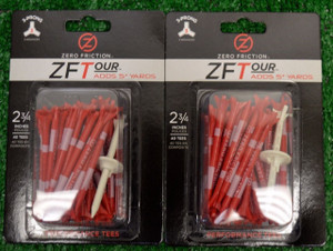 "Zero Fiction ZFTour 3 Prong Red Golf Tees 2 3/4"" (ZT10011)"