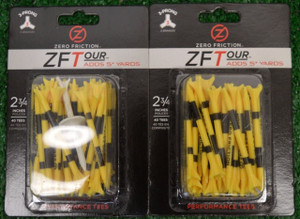 "Zero Fiction ZFTour 3 Prong Yellow Golf Tees 2 3/4"" (ZT10013)"