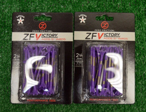 "Zero Fiction ZFVictory 5 Prong Purple & Gold Golf Tees 2 3/4"" (ZV10003)"