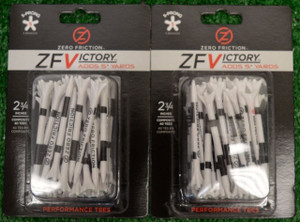 "Zero Fiction ZFVictory 5 Prong White Golf Tees 2 3/4"" (ZV10004)"