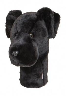 DAPHNE'S BLACK LAB DRIVER HEADCOVER