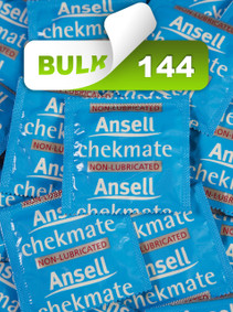 Ansell Chekmate Non-Lubricated Condoms (144 Bulk) - Buy Bulk Condoms Online