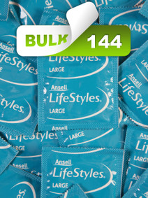 Ansell Lifestyles Large 56mm Condoms (144 Bulk) - Buy Bulk Condoms Online