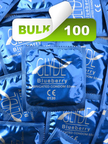 Glyde Blueberry Condoms (Bulk 100) - Buy Bulk Condoms Online