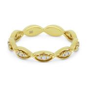 0.13ct Round Cut Diamond Stackable Right-Hand Ring / Band in 14k Yellow Gold