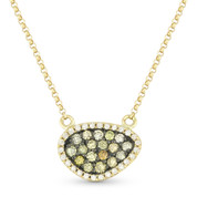 0.37ct Fancy-Colored & White Diamond Pave Mysterio Pendant & Chain Necklace in 14k Yellow & Black Gold