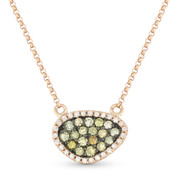 0.37ct Fancy-Colored & White Diamond Pave Mysterio Pendant & Chain Necklace in 14k Rose & Black Gold
