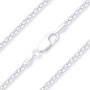 2mm (Gauge 020) Popcorn Link Italian Coreana Chain Necklace in .925 Sterling Silver - CLN-POP1-020-SLP