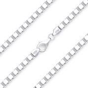 4.5mm (Gauge 500) Classic Box Link Italian Chain Necklace in Solid .925 Sterling Silver - CLN-BOX1-500-SLP