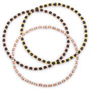 2.3mm Diamond-Cut-Detailed Ball Bead Italian Stretch Bracelet in .925 Sterling Silver - CLB-STBEAD3-2.3MM-SL
