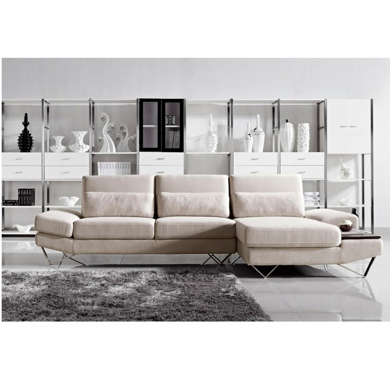Divani Casa Yorba - Modern Fabric Sectional Sofa Set ...