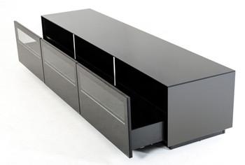 Modrest Landon Contemporary Black TV Stand