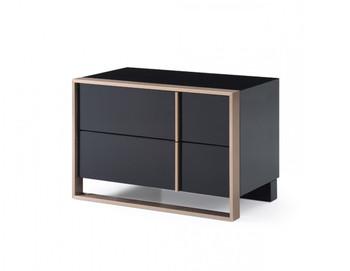 Nova Domus Cartier Modern Black & Rosegold Left Nightstand