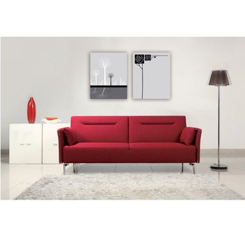 Divani Casa Davenport - Modern Red Fabric Single Sofa