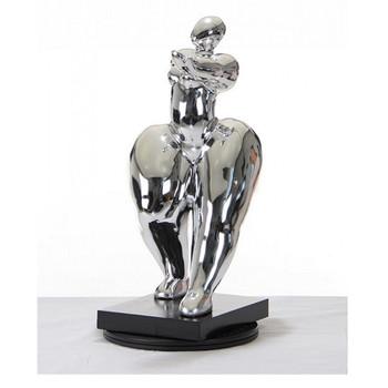 Modrest SZ0048 - Modern Silver Voluptuous B Sculpture