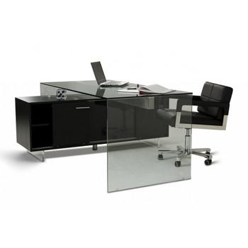 Modrest Alaska Black Oak Office Desk