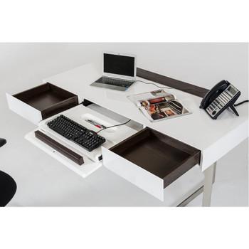 Modrest Sharp - Modern White Office Desk