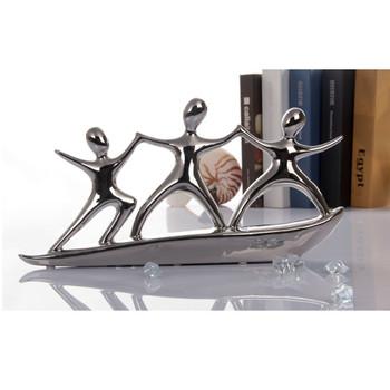 Modrest Surfing Silver Ceramic Sculpture