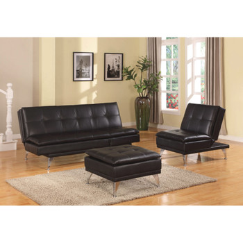 Frasier Black Adjustable  Sofa Set