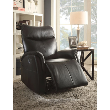 Riso Black Leather Recliner