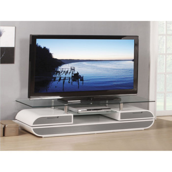 Lainey White and Gray TV Stand